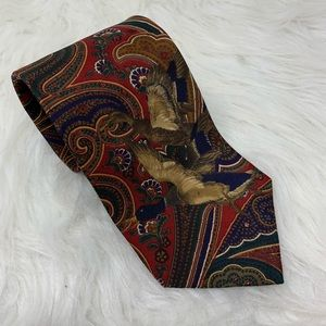 Bill Blass Silk Mallard Duck Bird Tie